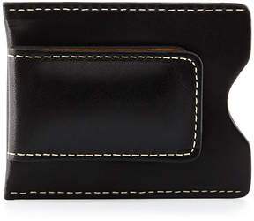 Neiman Marcus Leather Money Clip, Black Harness