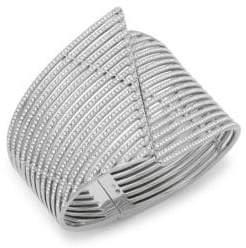 Adriana Orsini Tiered Crystal Wave Cuff Bracelet