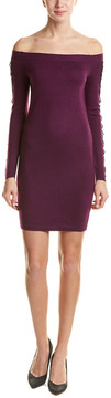 Cynthia Steffe Off-Shoulder Lace Sweater Dress