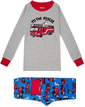 Hatley Embroidered Fire Truck Pyjama Set