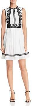 Aqua Crochet Appliqué Fit-and-Flare Dress - 100% Exclusive