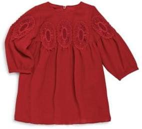 Chloé Baby Girl's Couture Lace Medallion Dress