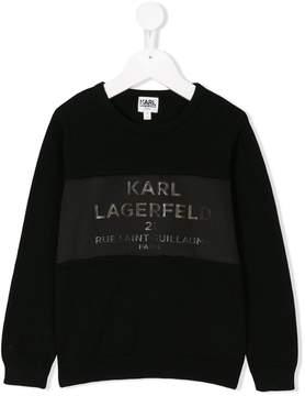 Karl Lagerfeld crewneck logo sweatshirt