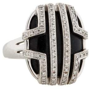 Di Modolo Onyx and Diamond Cage Ring