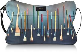 Paul Smith Canvas Brush Print Messenger Bag