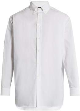 Raf Simons Embroidered-back stretch-cotton shirt