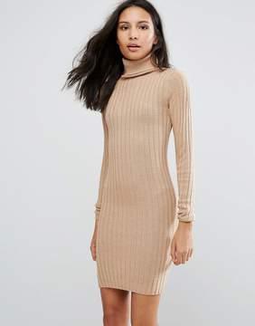Brave Soul Rib Sweater Dress