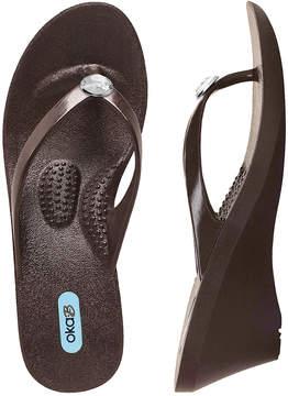 OKA b. Hot Chocolate Kelsey Wedge Sandal - Women