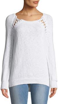 Dex Lace-Up Shoulder Sweater