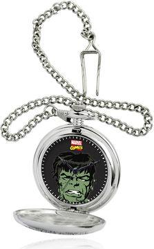 Marvel Hulk Mens Silver-Tone Pocket Watch