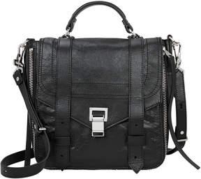 Proenza Schouler PS1+ Zip Black Leather Backpack