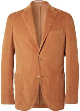 Boglioli Camel Slim-Fit Stretch-Cotton Corduroy Blazer