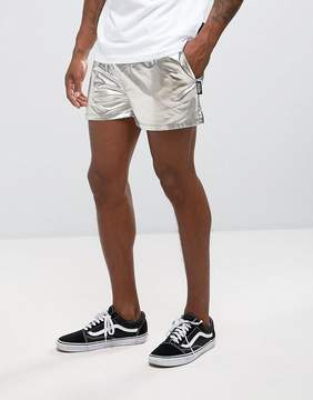 Jaded London Shorts In Silver Foil