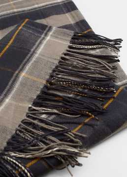 Mango Outlet Check scarf