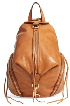 Rebecca Minkoff Medium Julian Leather Backpack - Brown - BROWN - STYLE