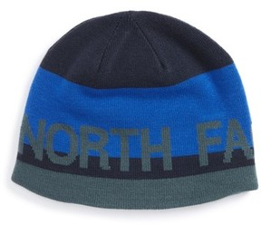 The North Face Boy's Anders Reversible Beanie - Blue