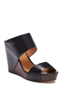 Trask Riki Platform Wedge Leather Sandal