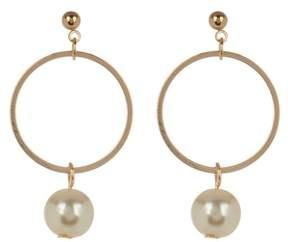 Ettika Gold Tone Ring & Pearl Earrings