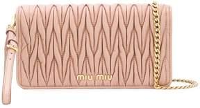 Miu Miu Matelassé clutch bag