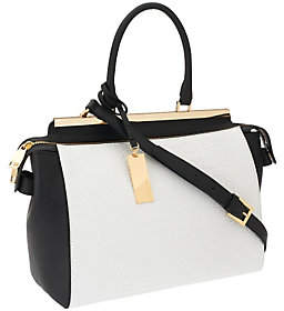As Is Marc Fisher Malena Leather Zip Top Satchel