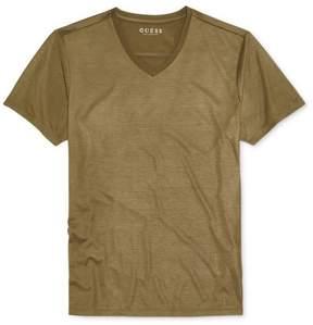 GUESS Mens Metalic Basic T-Shirt Green M