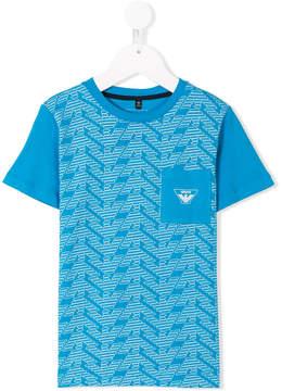 Emporio Armani Kids logo printed T-shirt