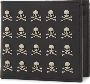 Philipp Plein Menadel skull textured leather wallet