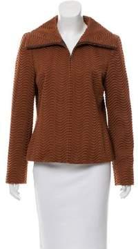 Akris Wave Pattern Wool Jacket