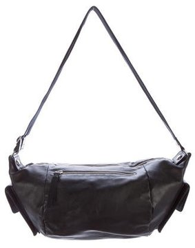 Sergio Rossi Leather Zip Shoulder Bag