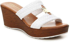 Italian Shoemakers Women's Woven Wedge Sandal