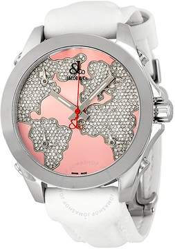 Jacob & co Jacob and Company Five Time Zone Diamond Pave Pink Enamel Dial Unisex Watch