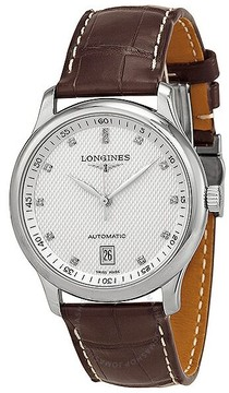 Longines Master Automatic Silver Dial Brown Laether Men's Watch