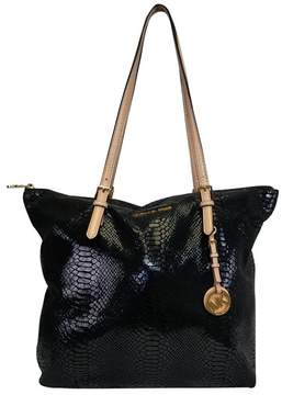 Michael Kors Black Embossed Tote - BLACK - STYLE
