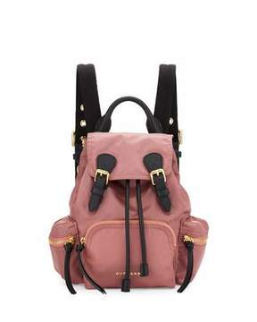 Burberry Small Rucksack Nylon Backpack, Mauve Pink - MAUVE PINK - STYLE