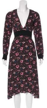 For Love & Lemons Floral V-Neck Dress