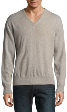Loro Piana Solid V-Neck Sweater