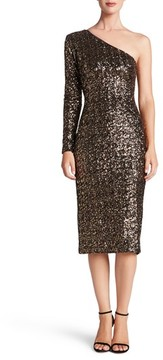Dress the Population Women's Chrissie Sequin One-Shoulder Dress