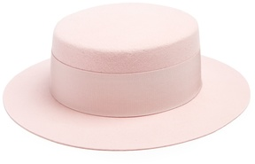 Federica Moretti Lei wool-felt boater hat