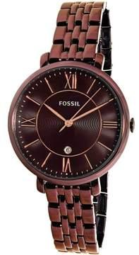 Fossil Women's Jacqueline ES4100 Wine Stainless-Steel Quartz Fashion Watch