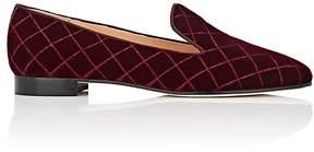 Barneys New York Women's Quilted Velvet Venetian Slippers