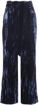 Wales Bonner Prosper crushed-velvet flared trousers