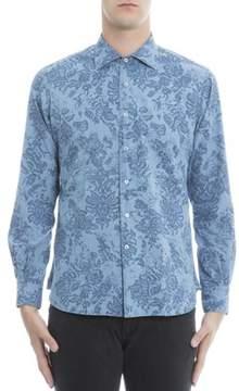 Orian Men's Light Blue Cotton Shirt.