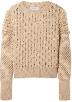 Eleven Paris SIX - Mila Cable-knit Sweater - Beige