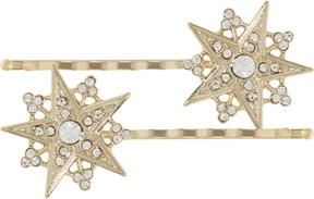 Scunci Gold Star Bobby Pins w/ Rhinestones
