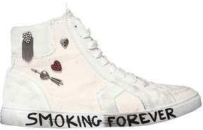 Saint Laurent Antibe Suede & Canvas Sneakers