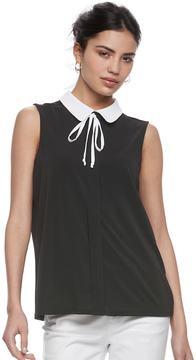 Elle Women's ElleTM Sleeveless Tie Neck Top