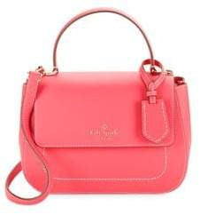 Kate Spade Classic Leather Satchel - BRIGHT FLAME - STYLE