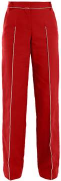 Valentino High-rise straight-leg cotton-blend trousers