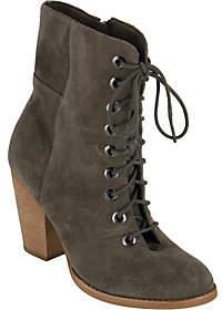 Mia Shoes Leather Granny Boots - Fontana