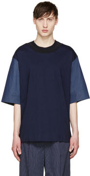 Juun.J Navy Combination T-Shirt